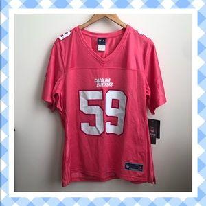 NWT Carolina Panthers Luke Kuechly Pink Jersey